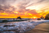 Epic High Resolution Malibu Landscape Seascape Sunset! Malibu Sea Cave Sunset California Socal Photography! Fine Art Landscape & Nature Photography: Light Beams & Dr. Elliot McGucken Epic Fine Art! Stormy Skies! Red & Orange Ocean Beach Sunset! (45SURF Hero's Odyssey Mythology Landscapes & Godde) Tags: epic high resolution malibu sunset sea cave california socal photography fine art landscape nature light beams dr elliot mcgucken seascape stormy skies red orange ocean beach
