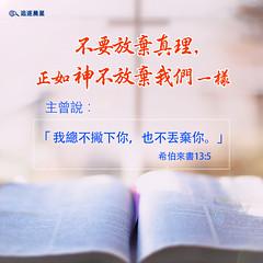 圣经感悟-不要放弃真理 (追逐晨星) Tags: 圣经感悟 真理 神的爱 圣经金句 金句卡片 金句图片