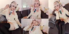 Sonico (Super Sonico) Selfies (Calssara) Tags: anime manga cosplay sonico supersonico bunnysweater pinkhair redeyes sweazer headphones cosplayer cosplaygirl stockings overknees tie geek nerd cute selfie calssara