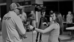 The Interview (Tim @ Photovisions) Tags: video interview news tv blackandwhite monochrome nebraska street fuji klkn