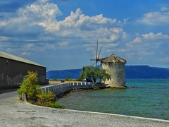 Road trip and the windmill (panoskaralis) Tags: windmill old oldbuildings buildings road roadtrip outdoor landscape sea seascape seashore seaside seafront seaview view lesvos lesvosisland mytilene greece greek hellas hellenic nikon nikoncoolpixb700