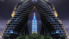 Taipei 101.Taiwan (陸山宗芳) Tags: 戶外 夜拍 taiwan taipei 台北 台灣 2018 建築物 高樓 建築 樹 天空 canon 5ds