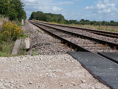 Trans Pennine Trail Rail Crossing (Geoffrey Thompson.) Tags: cycleroute transpenninetrail doncaster southyorkshire unitedkingdom gbr westridingofyorkshire england yorkshire railwaytrack railwayfeatures britishisles byways greatbritain thorpeinbalne
