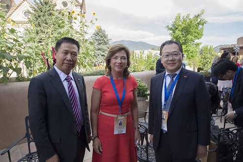 Raymond Qiao, Barbara Humpton, and Xu Chen
