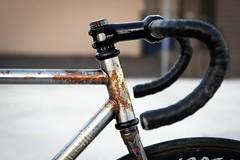 Cinelli Mash Work (a.dangerpdx) Tags: cinelli mash work fixed gear track bike campagnolo shamal black rust bicycle hhsb sttb tarck