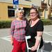 visit to Białystok.. Mirka & Ewa, smiling, not..