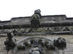 pig gargoyle (squeezemonkey) Tags: scotland stirling stirlingcastle architecture stonework building theroyalpalace pig carving gargoyle wingedheads dragons