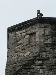lion on the roof (squeezemonkey) Tags: scotland stirling stirlingcastle castle lion carving tower stonewall architecture