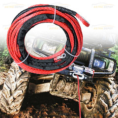 1/4 x 50' RED Synthetic Winch Rope Cable 6400+LBs For JEEP ATV UTV KFI Recovery SUV Truck (astradepotcorp) Tags: kfi primeday fastshipping fba winchrope recovery voutdoor offroading jeeplife jeepcherokee jeepwinch jeep4x4 cablewinch advanture explore instajeepthing jeepwrangler boat syntheticwinch syntheticwinchrope 4x4 utv atv truck offroad winch rope jeep