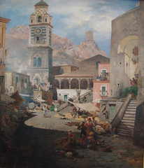 Oswald Achenbach    Market Square in Amalfi, 1876 (skaradogan) Tags: nature landscape water abstract blue art trees sky green newyork clouds white red sunset flower colorful winter chicago adamasar celestialimages flowers snow beautiful tree yellow photography beauty color skyline beach ocean black vintage wildlife old blackandwhite forest rocks leaves architecture bison travel modern outdoors light love autumn mountains city sea orange nyc painting b2008 oswaldachenbach