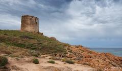 The Spanish Tower (stewartl2010) Tags: seagulls latorrespagnola landscape colorefexpro4 nikfilters spanishtower sky redisland italy seascape granite isolarossa seagullsrocks sardinia sardegna it