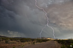 A Fork in the Road (Steven Maguire Photography) Tags: lightning landscape lightningstrike skyscape southwest arizona thunderstorm clouds cochisecounty monsoonstorms monsoon mountians