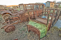 Boneyard (magnetic_red) Tags: cars old antique rusted rusty junk junkyard boneyard decay desert nevada goldfield