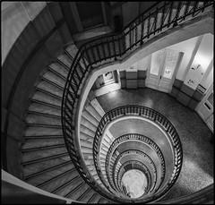 Vertigo (George Fournaris) Tags: stairway spiral df nikon bw