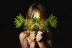 Rainbows!! (privizzinis passion photography) Tags: rainbows portrait child childhood outdoors colors people chilren green ferns hands outside