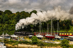 Steam Train Departing Whitby (Brian Travelling) Tags: pentax kr steamtrain lner steam whitby north yorkshire pentaxkr scotland