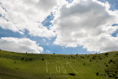 The Long Man of Wilmington, sheep crossing his brow (Daniel James Greenwood) Tags: longmanofwilmington wilmingtonhill nikond5600 afsdxnikkor10–24mmf3545ged eastsussex southdowns southdownsnationalpark danielgreenwood danielgreenwoodphotography sussex