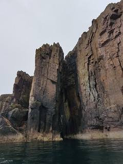 Rock arch, south of Sarclet Head, Caithness, Scotland.