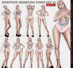 SEmotion Female Bento Modeling poses Set 20 - 10 static poses (Marie Sims) Tags: semotion sl secondlife stands mocap modeling model fashion female ao animations animation anim avatar hud hands bento blogger bloggers tcf event e