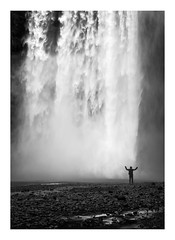 Facing the elements (www.davidrosenphotography.com) Tags: waterfall water nature iceland rocks movement power landscape bw blackwhite