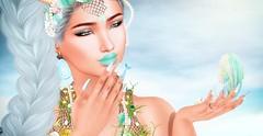 ♚ 596 ♚ (Luxury Dolls) Tags: astralia head catwa bento shape skin eyeshadow leluck blue green theseasonsstory tss4 lipstick zibska bubble earring swan ring kustom9 mermaid nails addon sintiklia hair headshot blog blogger feed girl picture
