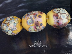 Rocks Ocher Petite Nuggets (Laura Blanck Openstudio) Tags: openstudio openstudiobeads glass handmade lampwork murano fine art arts artist artisan beads set opaque matte frosted etched glow glowing rocks nuggets pebbles stones whimsical funky odd abstract asymmetric speckles frit raku yellow ocher maize suede honey caramel coral mauve pink fuchsia lilac lavender aqua green brown colorful multicolor