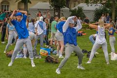 warming up (stevefge) Tags: 2018 deutschland duitsland germany heidelberg festival people street candid girls dance reflectyourworld unsuspectingprotagonists