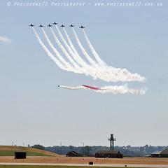 9378 Centenary Split (photozone72) Tags: aviation airshows aircraft airshow canon canon80d canon24105f4l 80d yeovilton yeoviltonairday raf redarrows reds redwhiteblue rafat