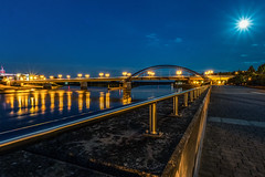 Oderpromenade (karstenlützen) Tags: germany brandenburg frankfurtoder oderriver river riverside waterfront reflections cityscape bluehour sonyflickraward
