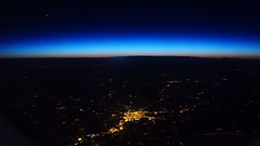 Like a spiders web (Steenjep) Tags: cypern cyprus zypern ferie holiday rejse travel flying plane view scene dawn firstlight light glow star poland