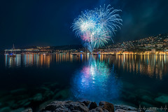 fireworks villefranche sur mer (milleniumphotographie) Tags: firework fireworks feu mer bluehour france french paysage landscapes landscape longexposure