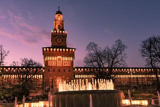 Sforzesco Castle in Milan, Italy
