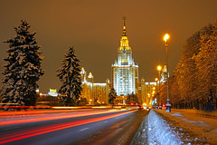 Moscow by night. Moscow State University (Andrey Sulitskiy) Tags: moscow russia москва россия