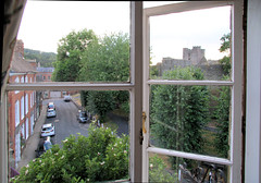 Room with a View: Ludlow Castle (kitmasterbloke) Tags: ludlow shropshire salop uk castle medieval town window pane