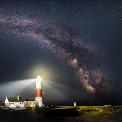 Portland Bill Lighthouse Milky Way! (Nathan J Hammonds) Tags: lighthouse milky way astro night stars star portland bill coast sea seaside uk england dorset nikon d750 irex 15mm stiched colour astrophotography summer evening