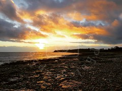 Sully Sunset (Aaron_A.K.A_Aaron) Tags: sunset sea ocean coast landscape wales britain winter