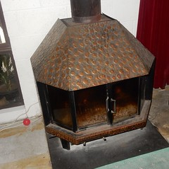 Wood Heater (mikecogh) Tags: seaton heater flue stained brass wood fireplace stove slow combustion australia 2018 may southaustralia