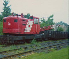 Hanging Loose (alwaysakid) Tags: cnjcraneatflemingtonnj1974 newjersey central gondola tracks weeds