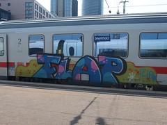 FLAP (mkorsakov) Tags: dortmund hbf bahnhof mainstation graffiti bunt colored train zug ic intercity flap blau blue