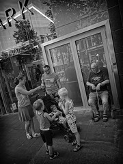 Primark (Fouquier ॐ) Tags: family kids elder street urban city monochrome blackandwhite antwerp belgium