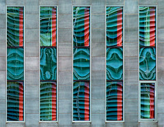 Reflection play (jefvandenhoute) Tags: reflections wall windows texture light lines shapes geometric