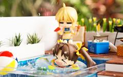 Summer Fun (kixkillradio) Tags: nendoroid nendoroidphotography dollhouse miniature diycraft diy swimming pool summer goodsmilecompany