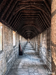 ... (Jean S..) Tags: alley corridor castle stone old ancient windows wall floor indoors