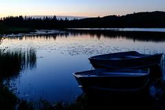 Edit -1-2 (Dane Van) Tags: atlanta michigan atlantamichigan ccr canadacreekranch sunset bluehour horsehead lake boats fujifilm x100f