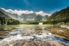 Reflections (em-si) Tags: laghidifusine weissenfelsersee italia italy italien see water wasser lake reflections spiegelung nikond800 irix15mm24 mountains berge sommer summer polfilter