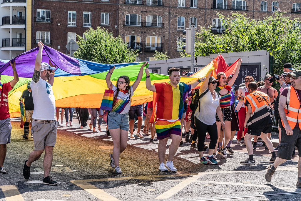 ABOUT SIXTY THOUSAND TOOK PART IN THE DUBLIN LGBTI+ PARADE TODAY[ SATURDAY 30 JUNE 2018] X-100040