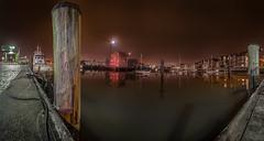 Cuxhaven - Marina (Roger Armutat) Tags: cuxhaven marina hafen nachtaufnahme langzeitbelichtung niedersachsen germany klappbrücke sony zeiss1635