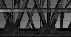 Koningshavenbrug (Rotterdam) (Kijkdan) Tags: streetphotography people architecture architectuur blackandwhite monochrome geometric bridge