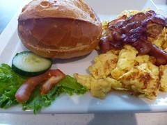 Bäckerei. Bakery. (remember moments) Tags: dietmarvollmer food bakery bäckerei scrambledeggs egg salad bun brötchen bacon