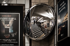 Reflection (Theunis Viljoen LRPS) Tags: greatportlandstreet london londonunderground reflection staircase